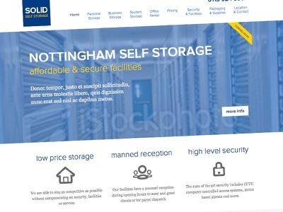 Solid Self Storage css3 html5 web design