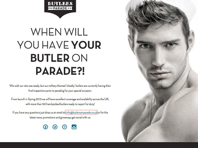 Butlers on Parade web design web development