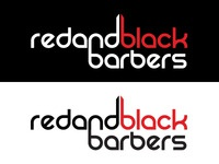 Red and Black Barbers Logo