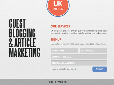 UK Blogs Web Site Design layout responsive design web web design