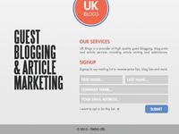 UK Blogs Web Site Design