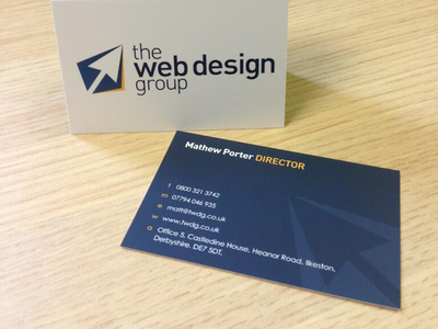 The Web Design Group Business Cards design marketing business cards web design