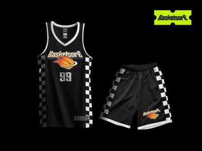 Basket Ball costume and logo