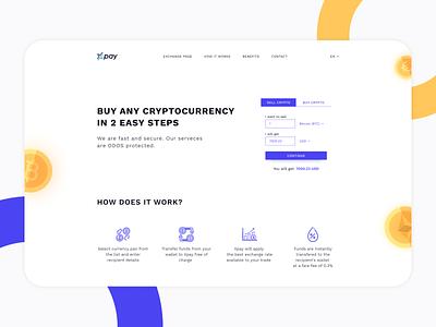 Crypto exchanger crypto crypto exchange web ux ui flat figma design