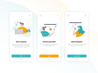 Onboarding for task manager task manager minimal mobile app appservice illustrator mobile app vector illustration ui flat figma design