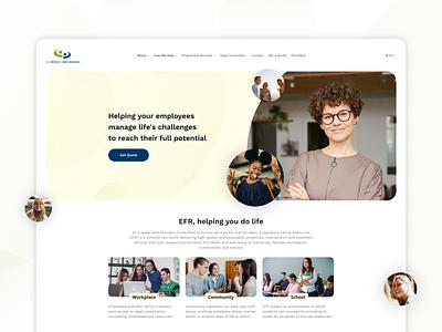 Corporate website ux creative efr photoshop typography appservice nickrybak web ui flat figma design