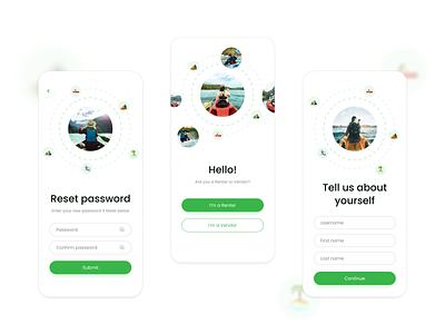 Mobile authorization marketplace application ux app minimal appservice nickrybak ui flat figma design