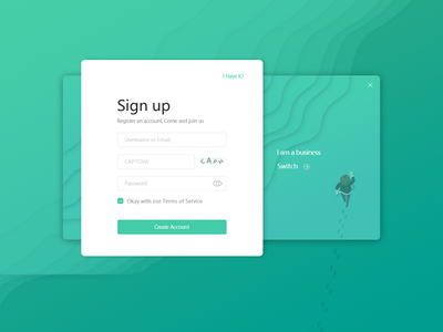 Company registration page