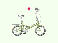 Peppermint Folding Bike