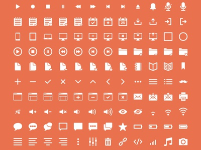 IKONS ikons icons icon pack set glyphs psd freebie social ui collection free