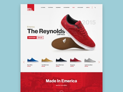 Landing Page product landing shop store skate website layout minimal simple flat user interface ui
