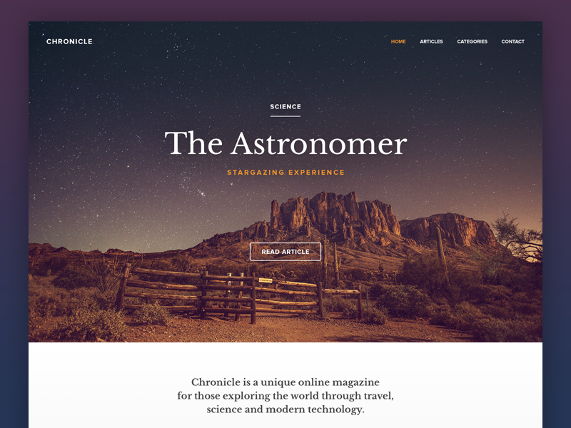 Magazine travel simple flat website minimal online blog magazine layout ux user interface ui