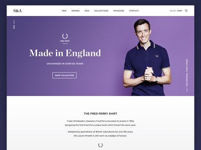 Fashion Site store shop fashion website layout modern simple flat minimal typography user interface ui