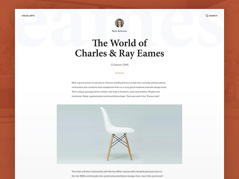 Blog Post eames typography website layout post blog white simple flat minimal user interface ui