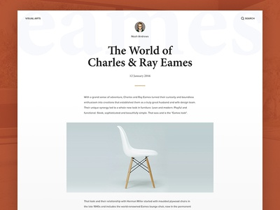 Blog Post eames typography website layout post blog white simple flat minimal user interface ui