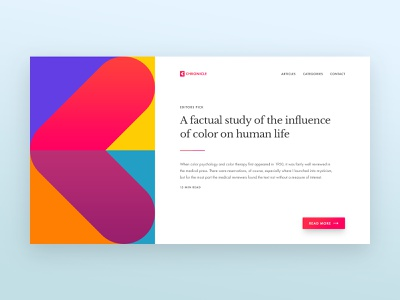 Article Preview article website colors simple minimal layout blog preview card user interface ui