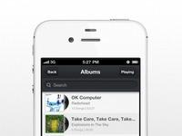 Music app ui iphone albums
