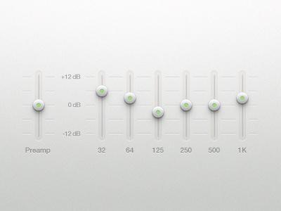 Equalizer equalizer eq ui user interface music