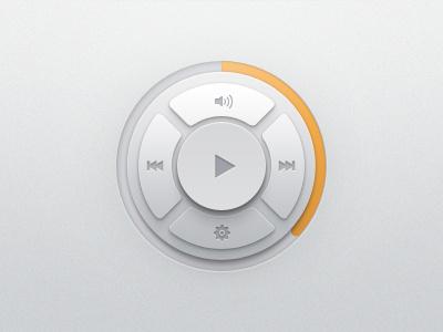Music Player Widget ui user interface player music widget buttons