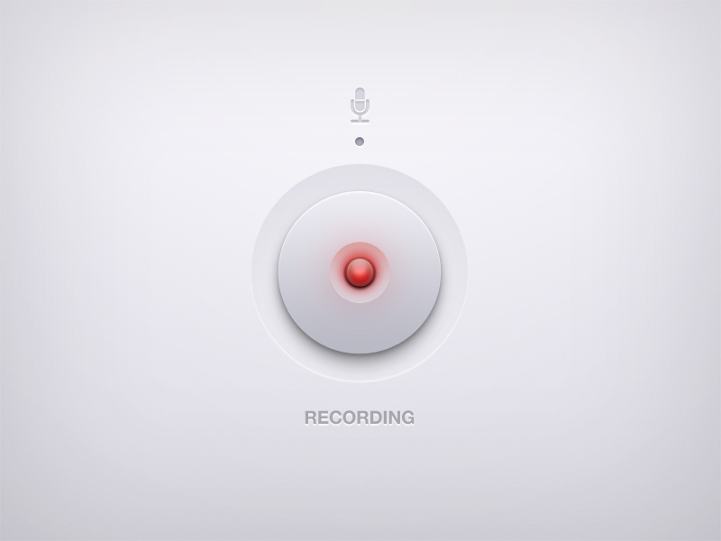 Recording ui user interface button audio recording