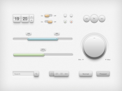 UI Psd user interface ui kit set psd