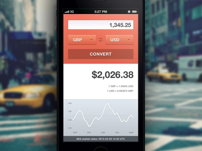 Currency Converter ui user interface app iphone currency converter graph