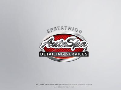AutoSpa Detailing Services Logo & Signage Design logo designer car spa branding signage design detailing logo graphic design logotype