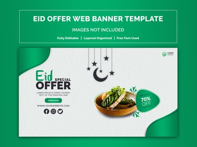 Eid Offer Web banner template discount banner web element islamic banner arabic banner template banner template landign page web banner ad ui designs ui  ux