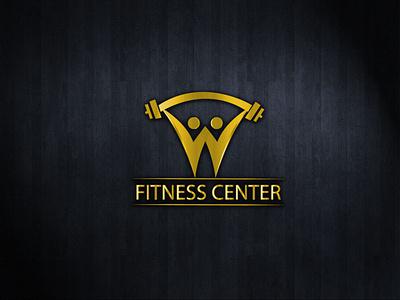 Fitness Center Logo Design modern design modern logo amazing logo creative logo design handlettering hand drawn logo design logotype deisgn logo