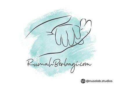Logo Rumah Berbagi identity branding line art brand identity logo illustration design