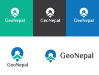 Logo and visual identity design of GeoNepal