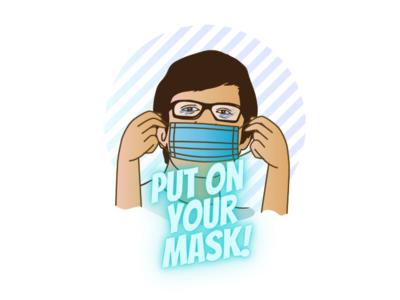 Put on your mask illustration design illustration art vector ui illustration bhajumahesh nepali design design coronavirus covid19 mask selfportrait