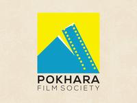 Logo and visual identity design of Pokhara Film Society