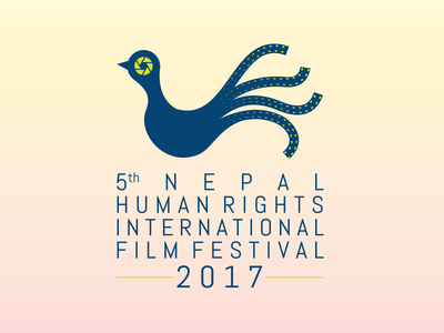 [Logo] Nepal Human Rights International Film Festival  film logo human right mahesh creations bhajumahesh design nepali design logo design visual identity branding kathmandu nepal logo