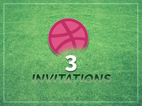 3 Dribbble Invitations