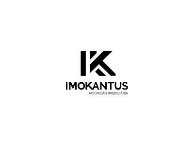 IMOKANTUS Mediação Imobiliária agency branding typography branding portugal madeira island design logo graphic design creative agency oneline 2020 trend