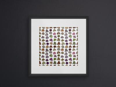 Nutty Nuts Doodle Pattern Art