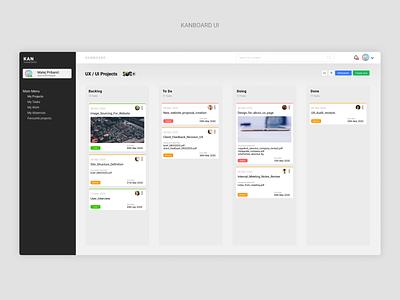 Kanboard UI web app design ui