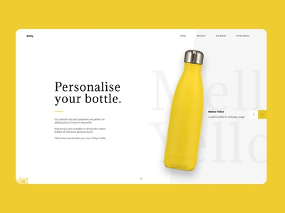 Bottly website typography web minimal design ui