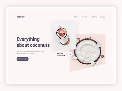 Coconut web minimal ui