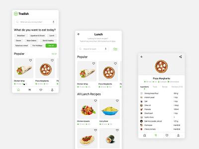 Food Recipe App ux minimal app design ui