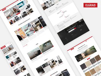 Elgrad - Redesign ux branding typography website flat web minimal design ui