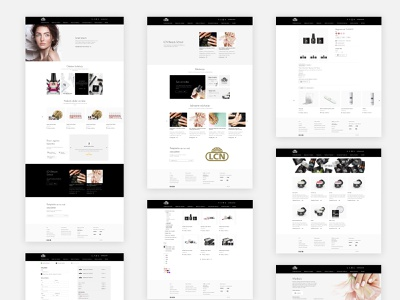 LCN Croatia - Webshop branding typography website ux flat minimal design ui