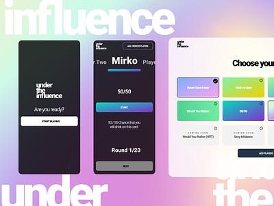 Under the Influence - Drinking APP minimal branding web ux app design ui