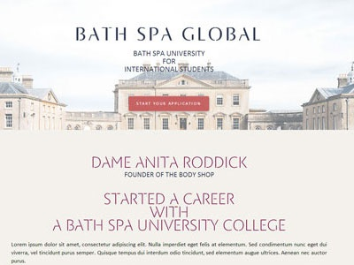Bath Spa Global site