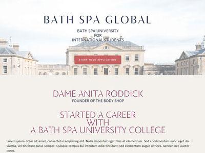 Bath Spa Global site