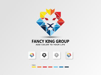 Fancy King Group artist logo design logo animation logotype logos logo designer adobe photoshop adobe xd adobe illustrator icon ux ui typography branding logodesign art drawing illustration design logo