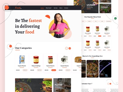 Food Service Website Templates
