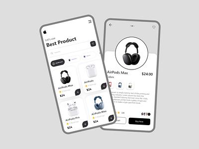 Apple headphones screen mobile ux  ui ui mobile branding illustration vector drawing design creative