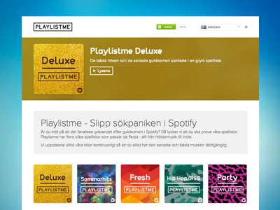 Playlistme Website website music playlists